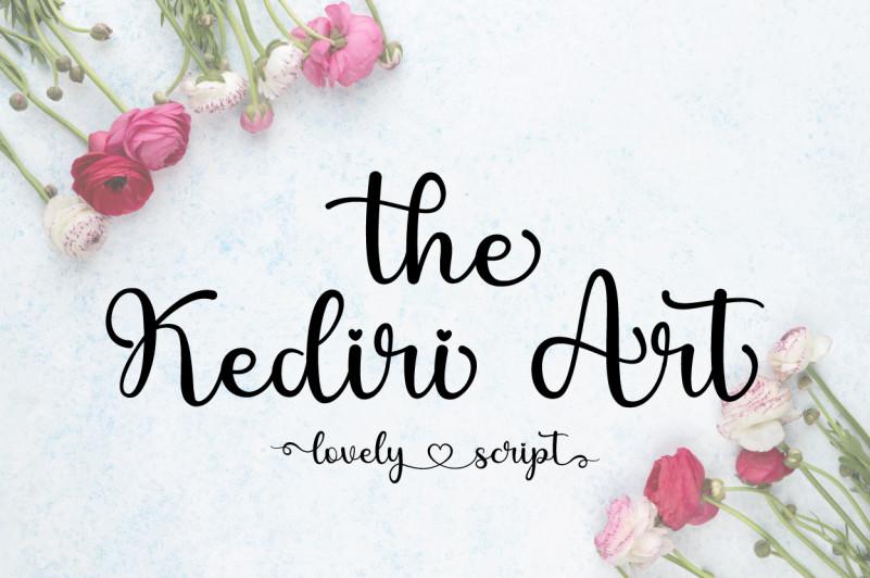 The Kediri Art Font