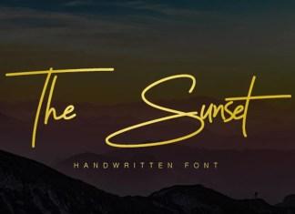 The Sunset Handwritten Font