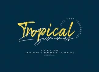 Tropical Summer Handwritten Font