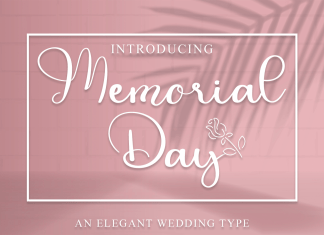 Memorial Day Calligraphy Font