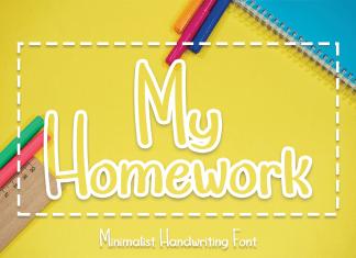My Homework Display Font