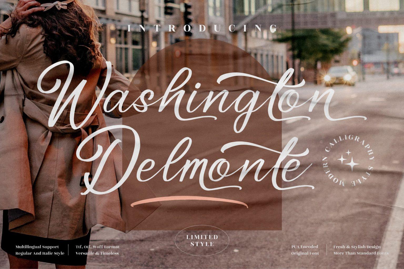 Washington Delmonte Font