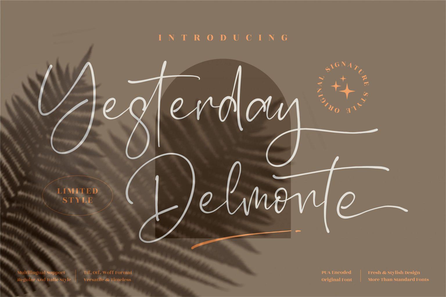 Yesterday Delmonte Font