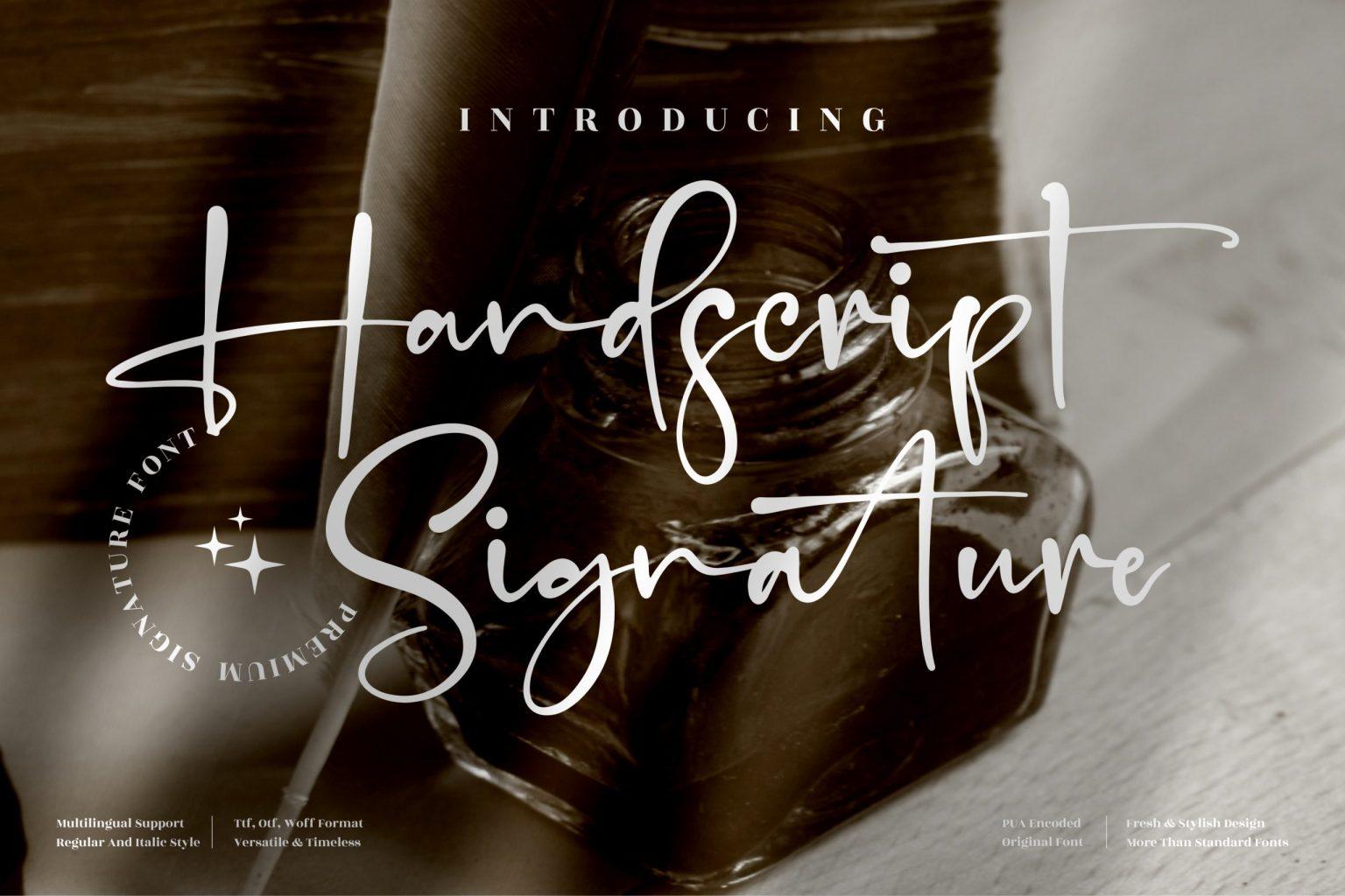 Handscript Signature Script Font