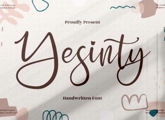 Yesinty Script Font