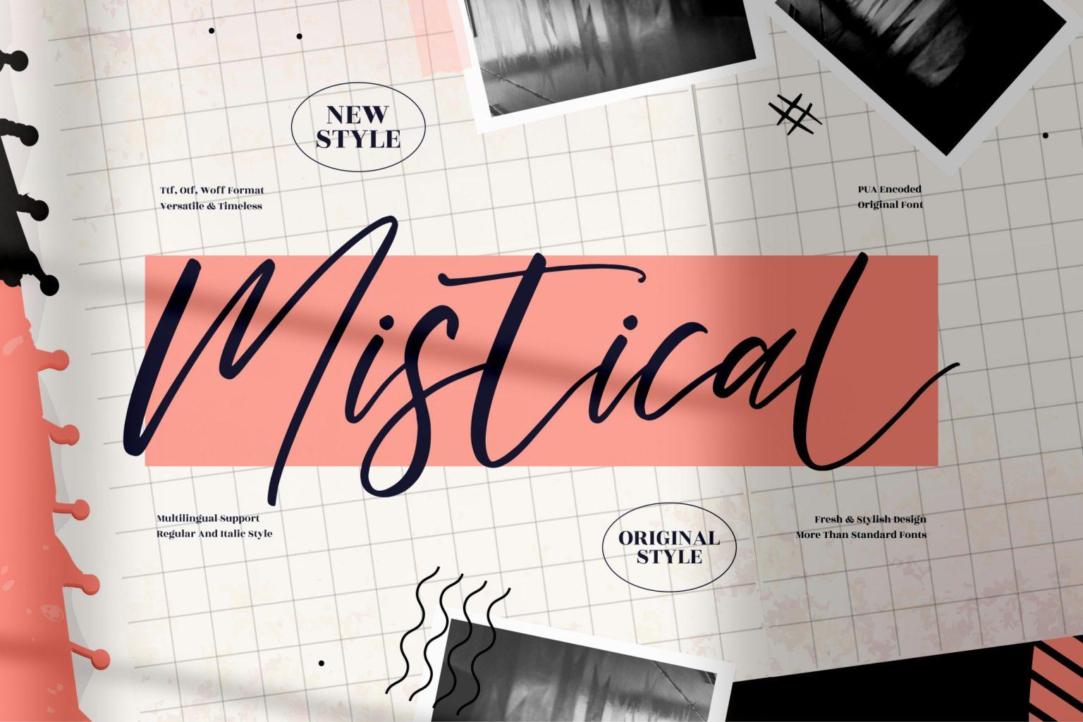 Mistical Script Font