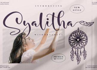 Syalitha Script Font
