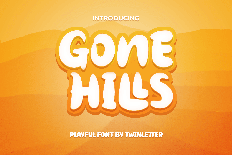 Gone Hills Display Font