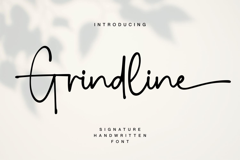 Grindline Handwritten Font