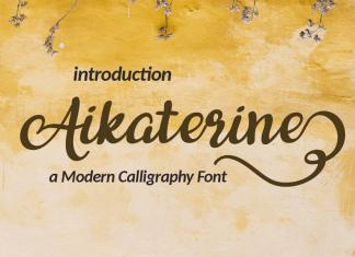 Aikaterine Script Font