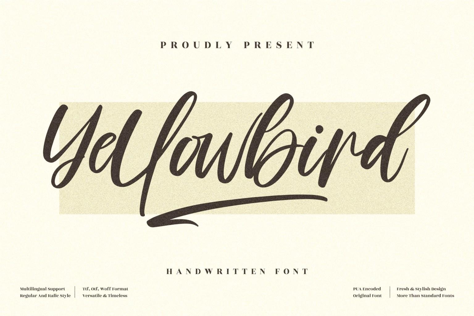 Yellowbird Script Font