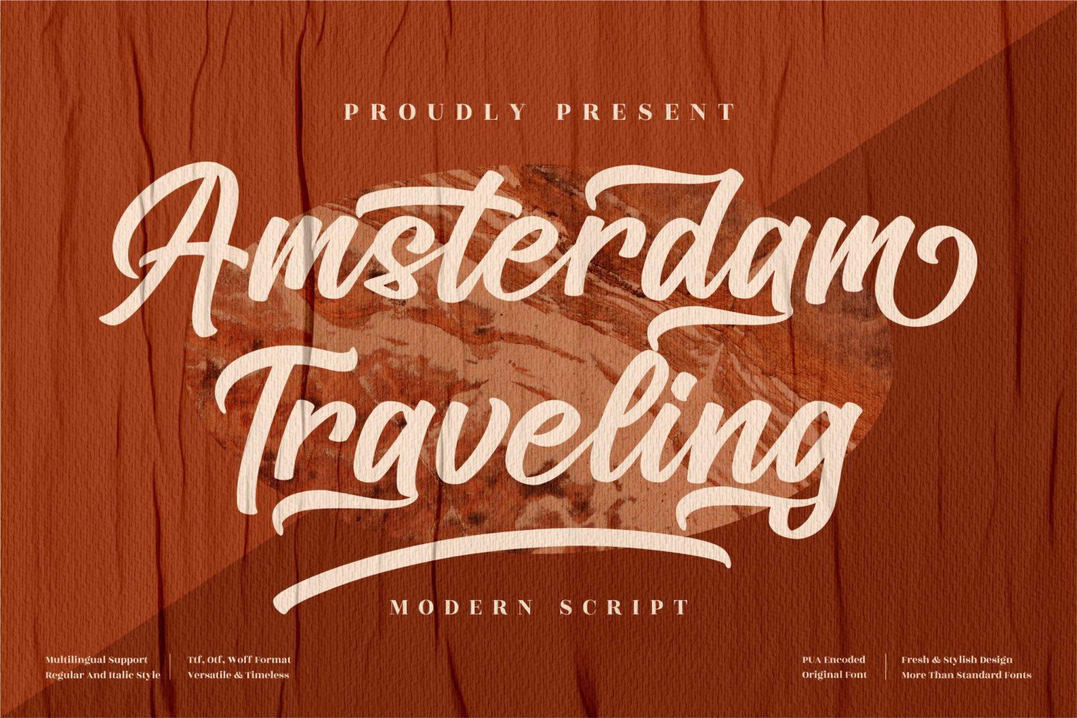 Amsterdam Traveling Script Font
