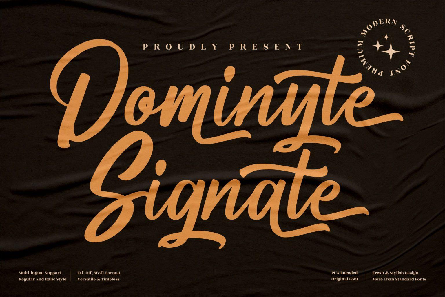 Dominyte Signate Script Font