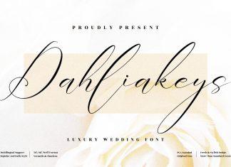 Dahliakeys Calligraphy Font