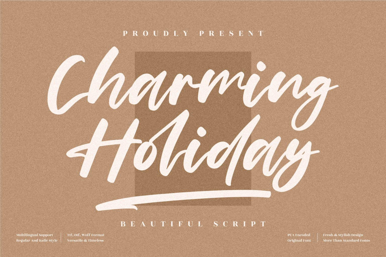 Charming Holiday Script Font