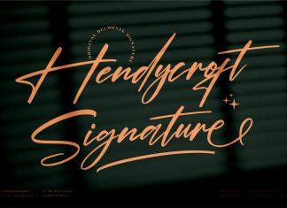Hendycroft Signature Script Font