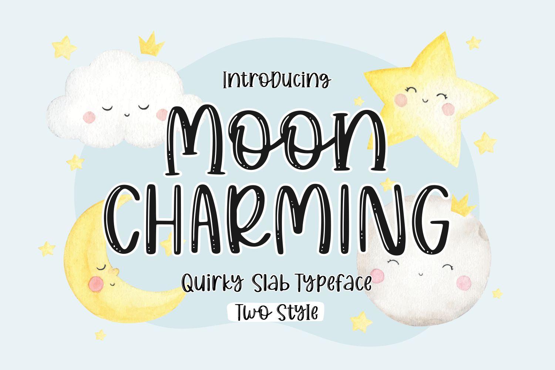 Moon Charming Display Font
