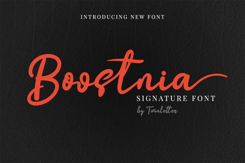 Boostnia Calligraphy Font