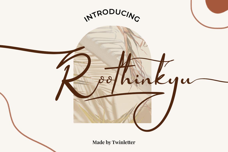 Roothinkyu Calligraphy Font