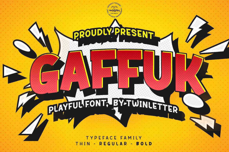 Gaffuk Display Font