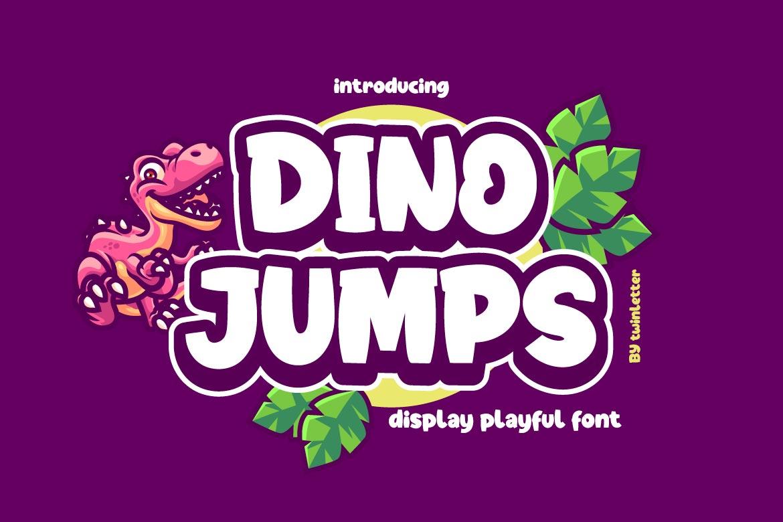 Dino Jumps Display Font