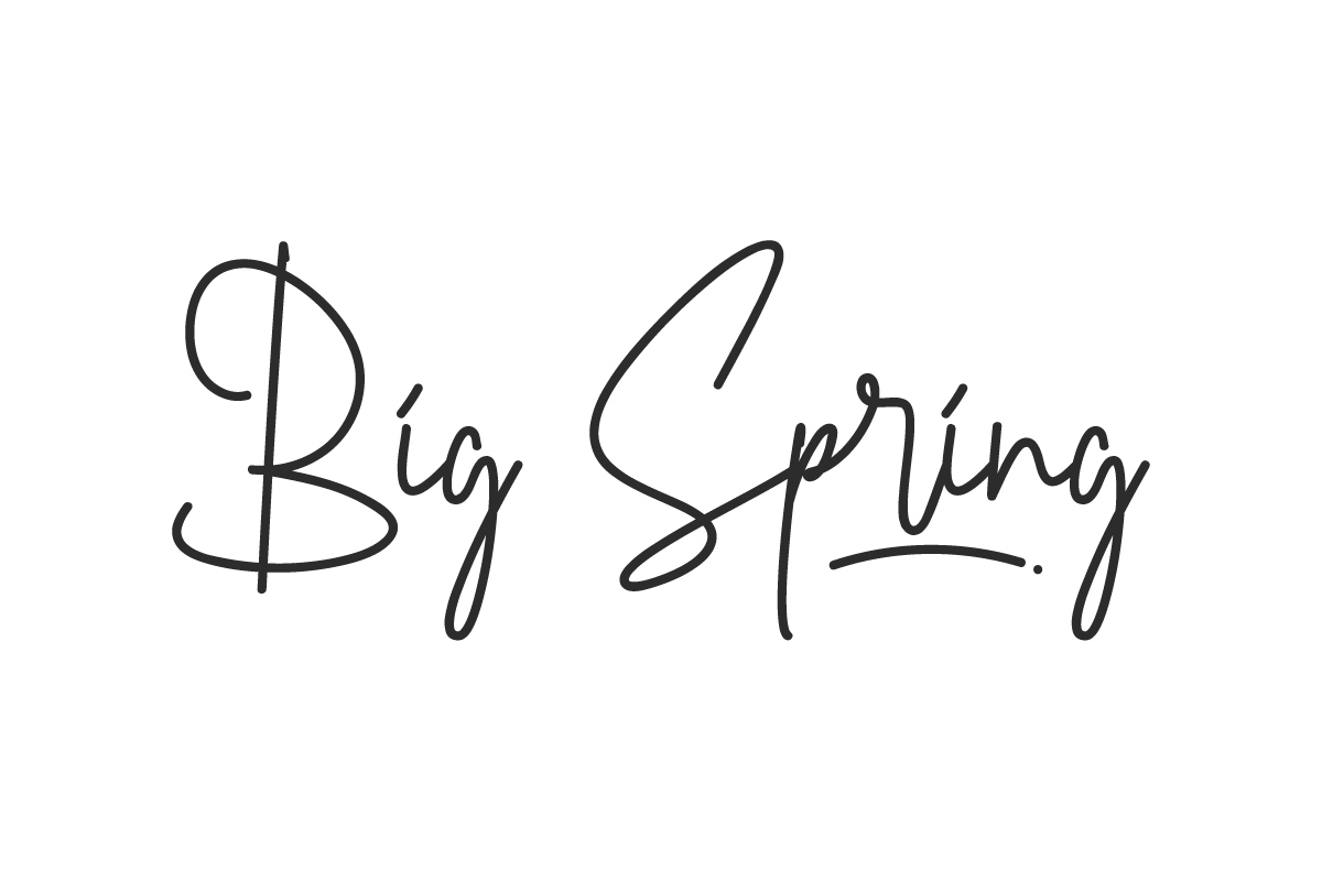 Big Spring Handwritten Font
