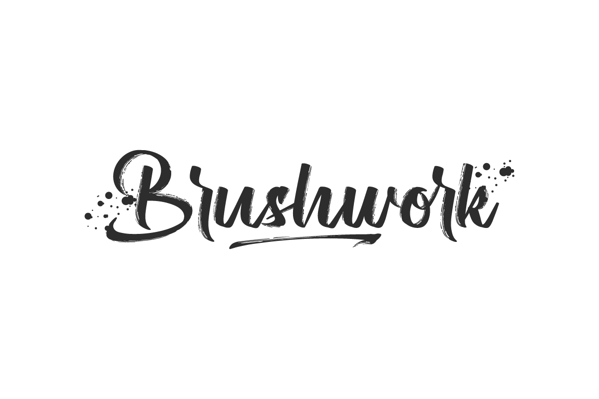 Brushwork Brush Font