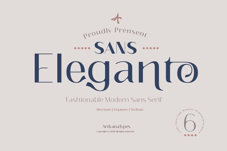 Eleganto Sans Serif Font