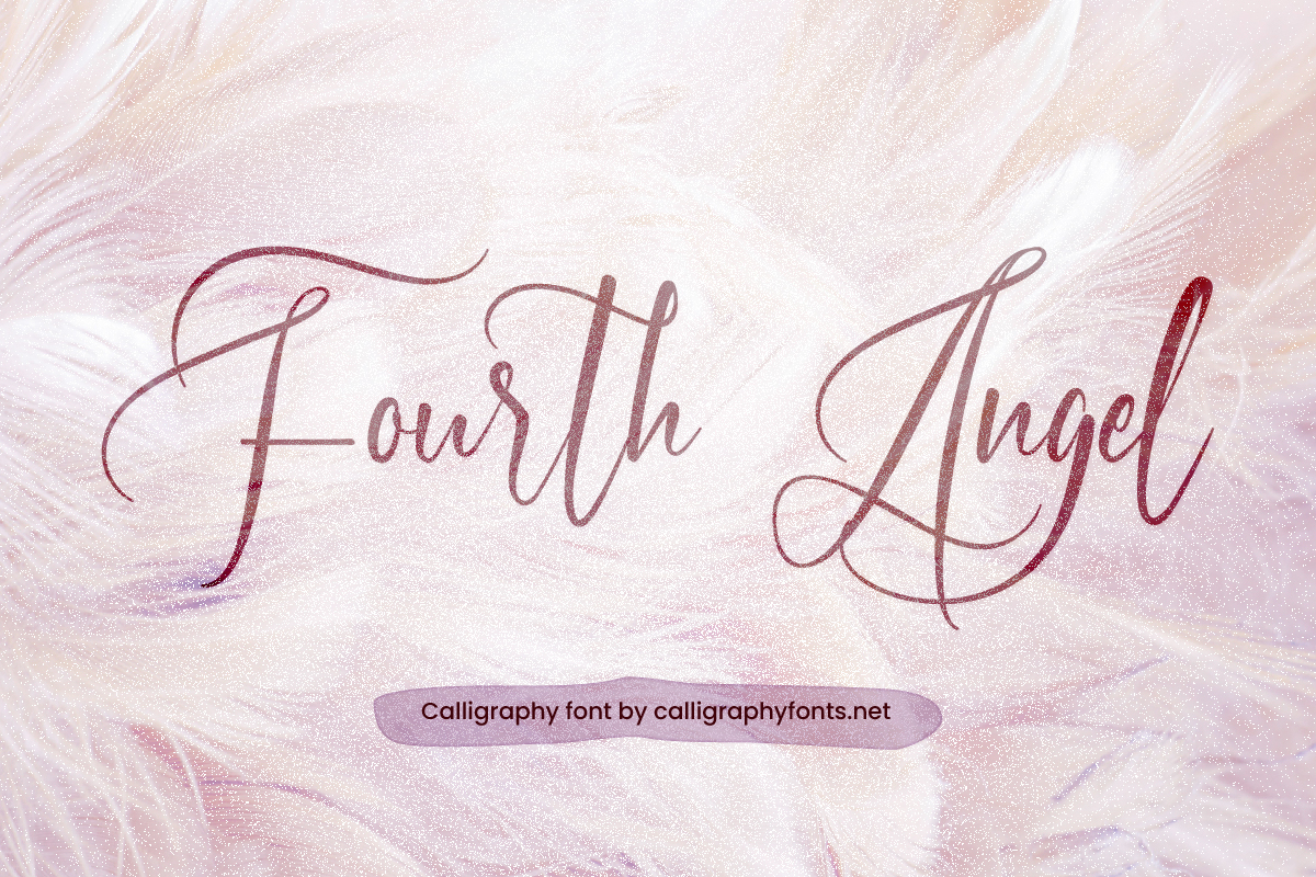 Fourth Angel Calligraphy Font