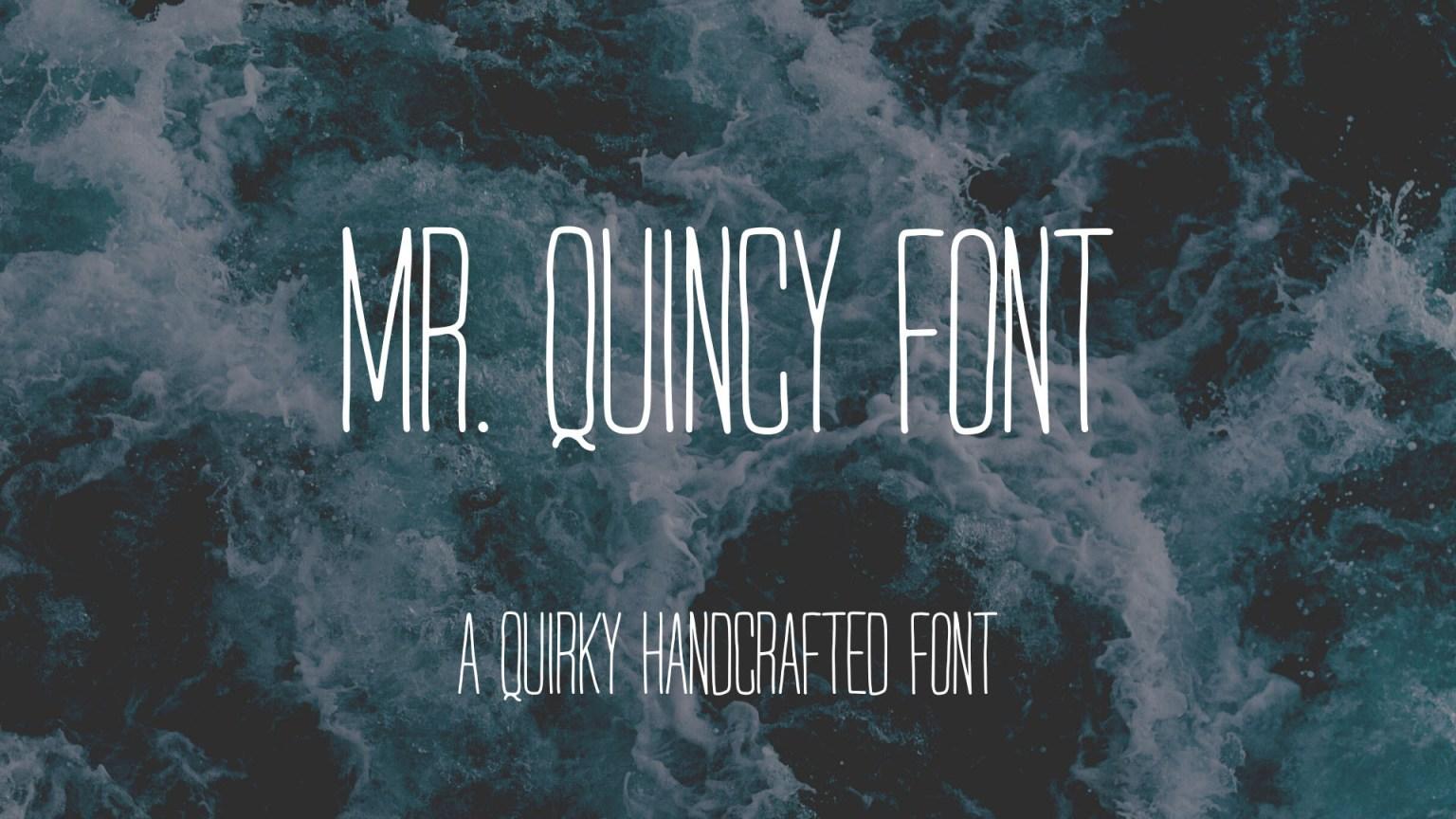 Mr Quincy Display Font