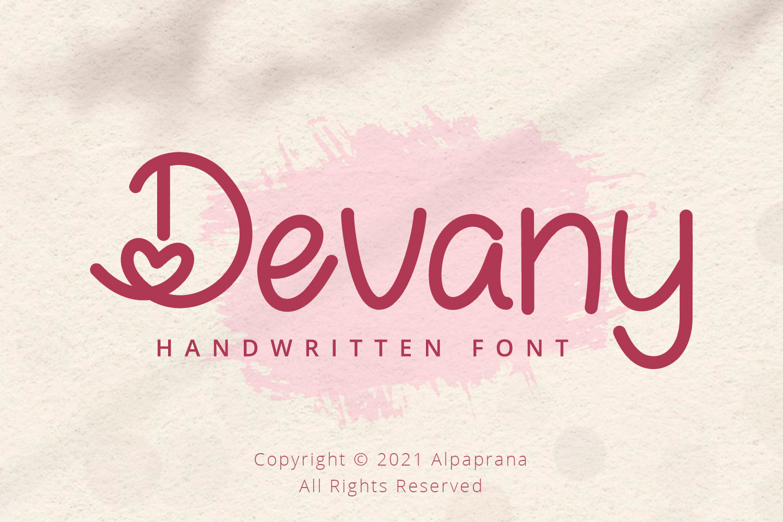 Devany Handwritten Font
