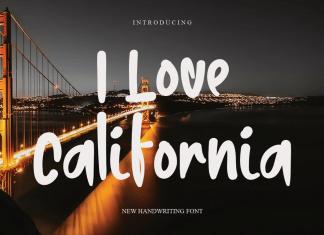 I Love California Script Font