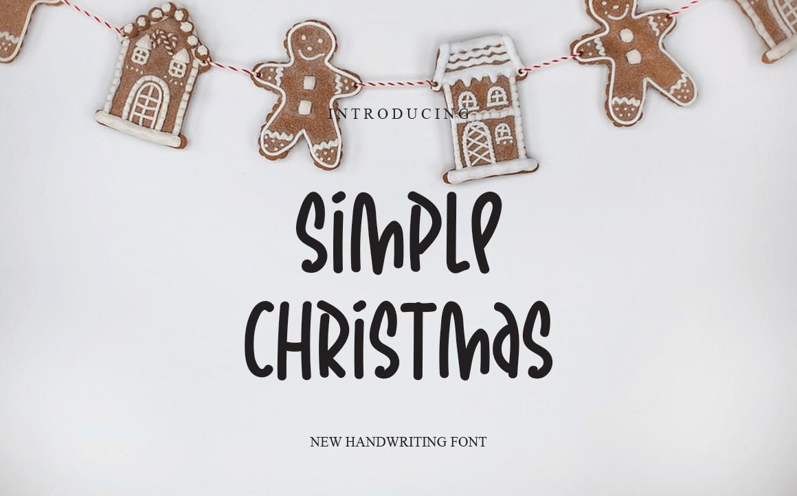 Simple Christmas Display Font