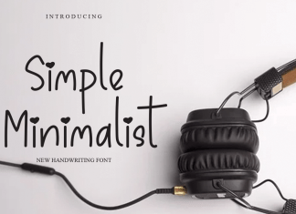 Simple Minimalist Display Font