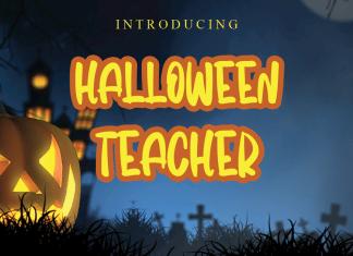 Halloween Teacher Display Font