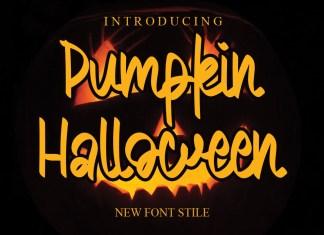 Pumpkin Halloween Script Font
