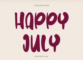 Happy July Display Font