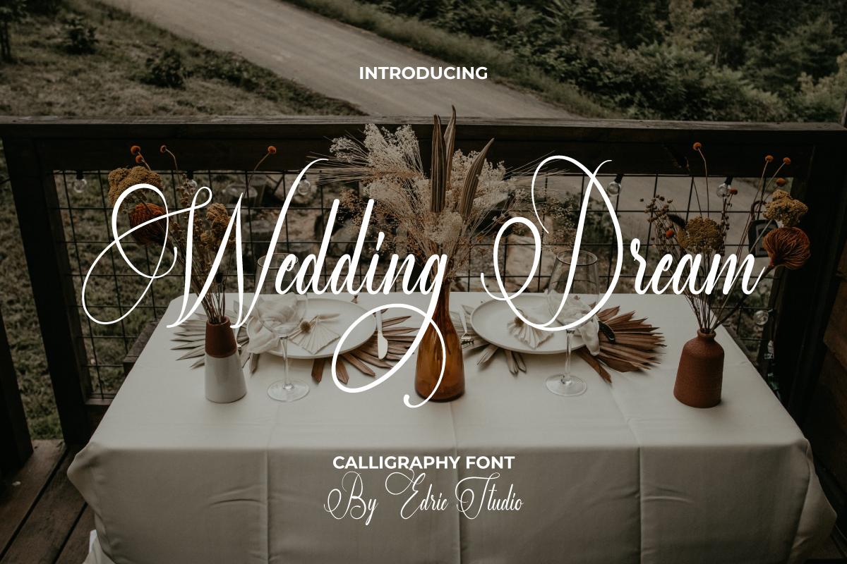 Wedding Dream Calligraphy Font