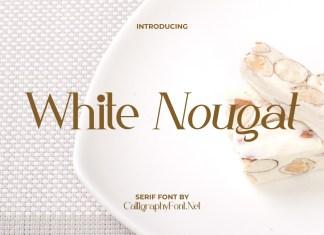 White Nougat Serif Font