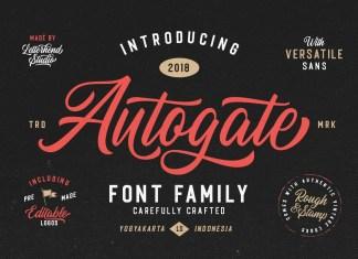 Autogate Script Font