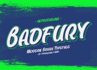 Badfury Brush Font