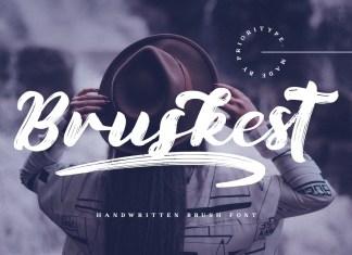 Bruskest Brush Font