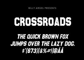 Crossroads Display Font