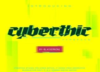 Cyberthic Display Font