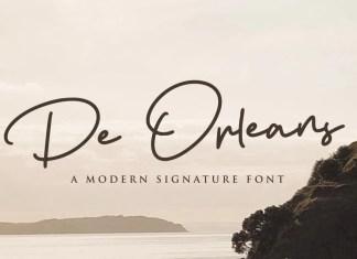 De Orleans Handwritten Font