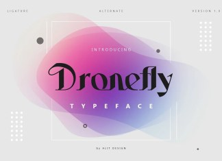 Dronefly Display Font
