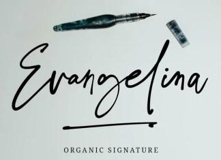 Evangelina Signature Script Font