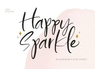 Happy Sparkle Script Font