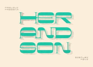 Her And Son Display Font