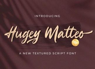 Hugey Matteo Brush Font